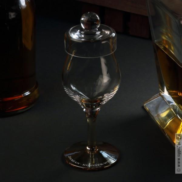 Bursztyn - grawerowany kieliszek do degustacji whisky z personalizacją