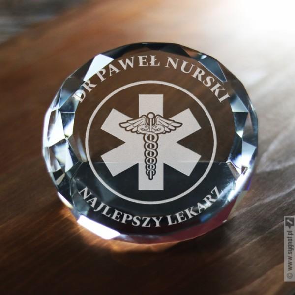 Najlepszy Lekarz - grawerowana statuetka z personalizacją dla medyka