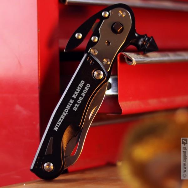 Niezbędnik Rambo - grawerowany multitool z dowolną personalizacją