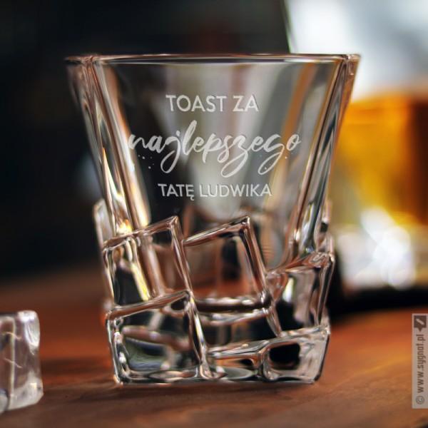 Toast Za Tatę - grawerowana szklanka do whisky z personalizacją dla Taty