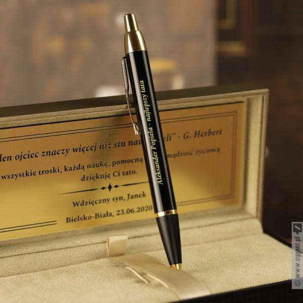 Personalizowany długopis Parker w grawerowanym etui, na dowolną okazję