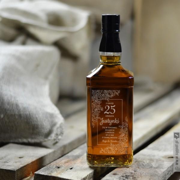 Żyj W Zdrowiu - grawerowana whiskey z personalizacją na urodziny