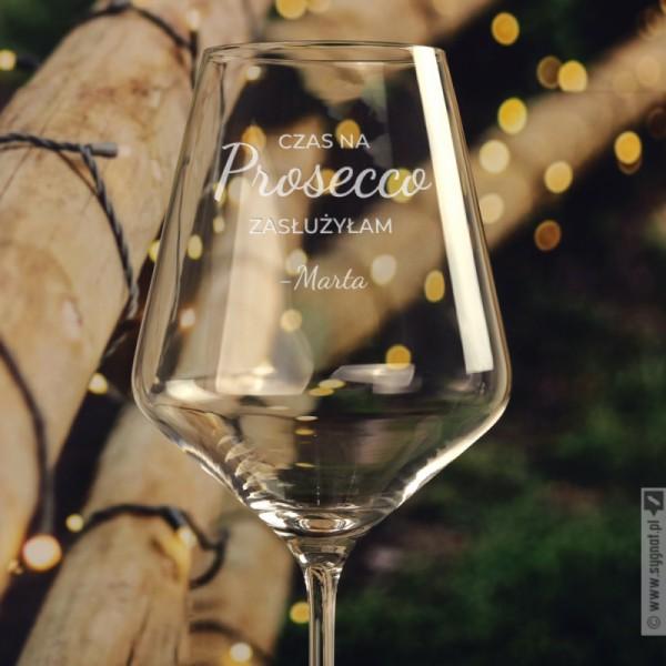 Selfcare - grawerowany kieliszek do wina z personalizacją 490ml