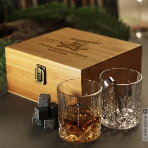 Najlepszy Świadek - grawerowany zestaw do whisky z dwiema szklankami