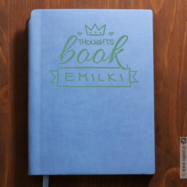 ThoughtsBook - grawerowany notatnik z personalizacją