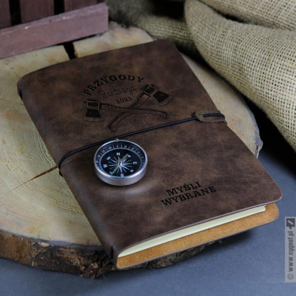 Myśli Wybrane - grawerowany notatnik z personalizacją