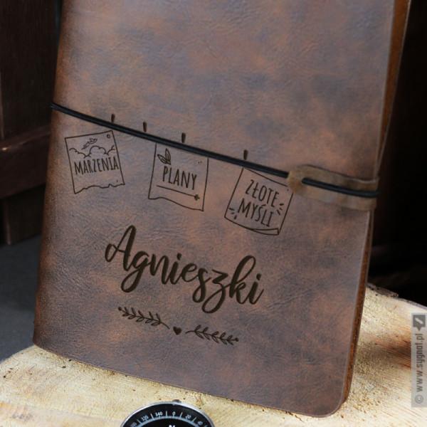 Złote Myśli - grawerowany notatnik z personalizacją