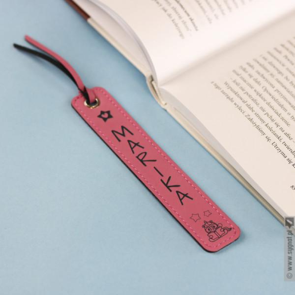Jednorożec - grawerowana zakładka do książki z ekoskóry