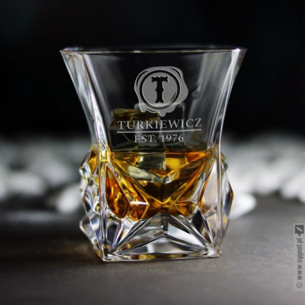 Pieczęć - grawerowana szklanka do whisky z personalizacją