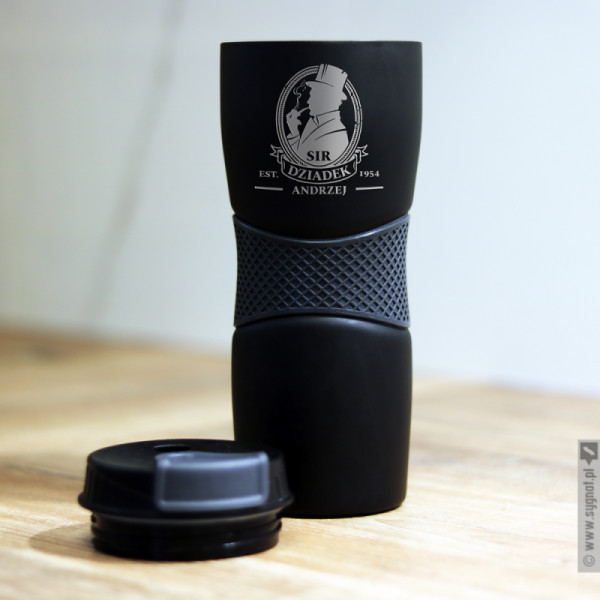 Sir Dziadek - grawerowany kubek termiczny z personalizacją