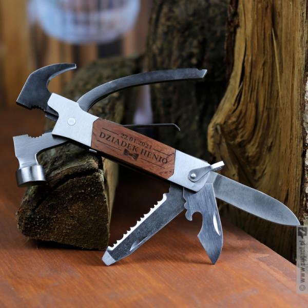 Hammer - grawerowane narzędzie wielofunkcyjne z personalizacją dla Dziadka