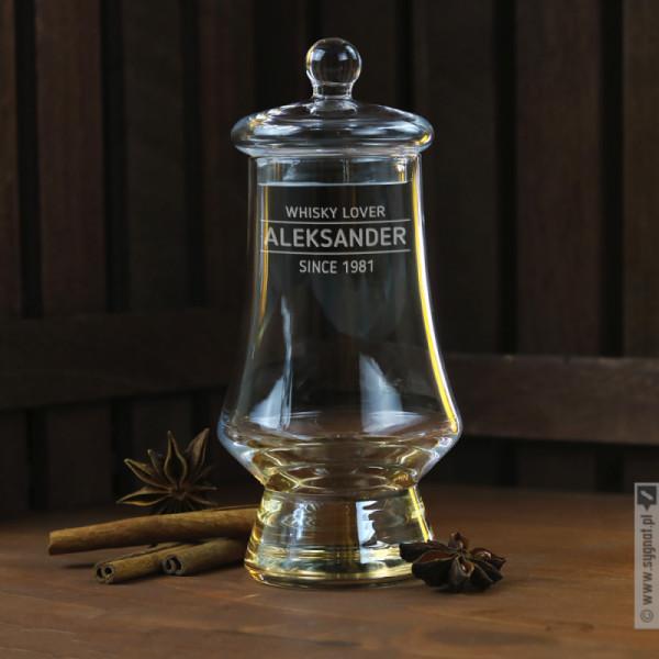 Whisky Lover - grawerowany kieliszek do degustacji whisky z personalizacją dla niego