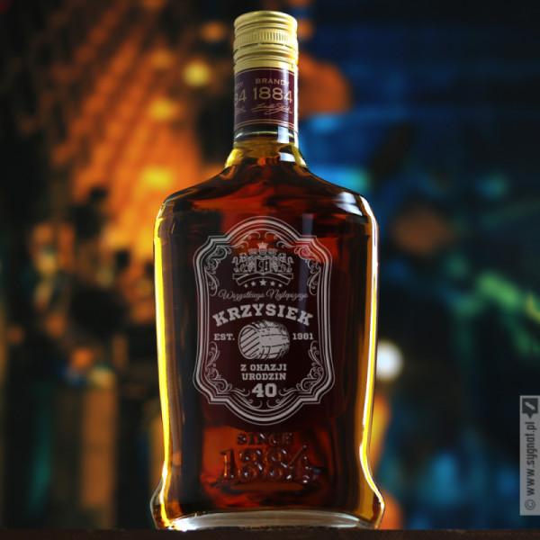 Beczka Brandy - grawerowany Stock 84 z personalizacją na urodziny