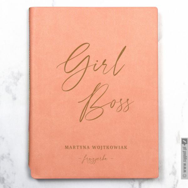 Girl Boss - grawerowany notatnik z personalizacją