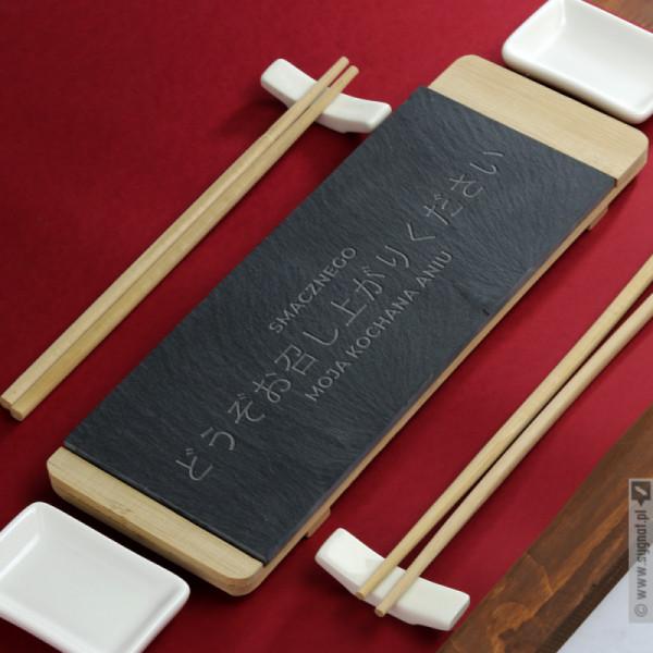 Smacznego - grawerowany zestaw do sushi z personalizacją