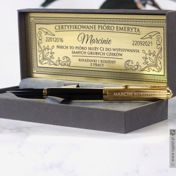 Pióro Emeryta - grawerowane pióro wieczne Parker Premium z personalizacją