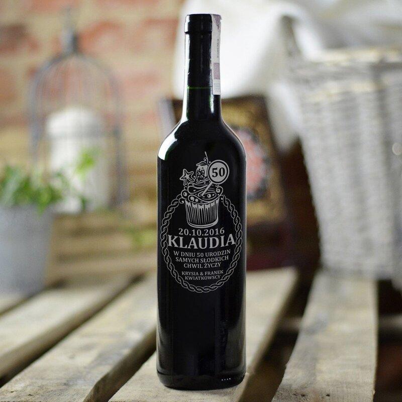 Zdjęcie produktu Wino czerwone, grawerowane z okazji urodzin