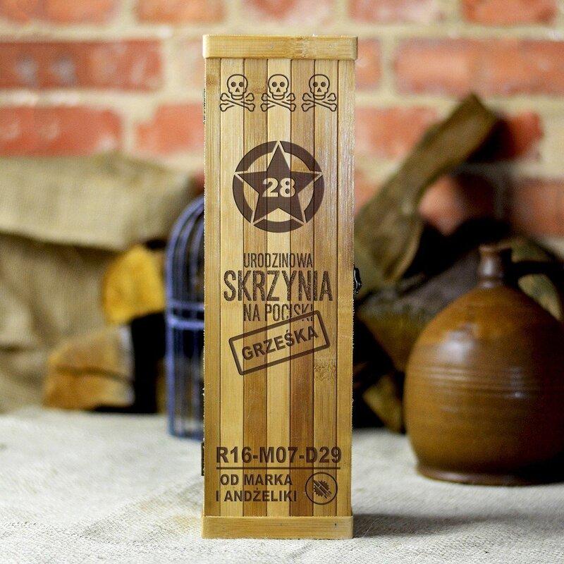 Zdjęcie produktu Skrzynia na pociski - urodzinowa skrzynka na wino