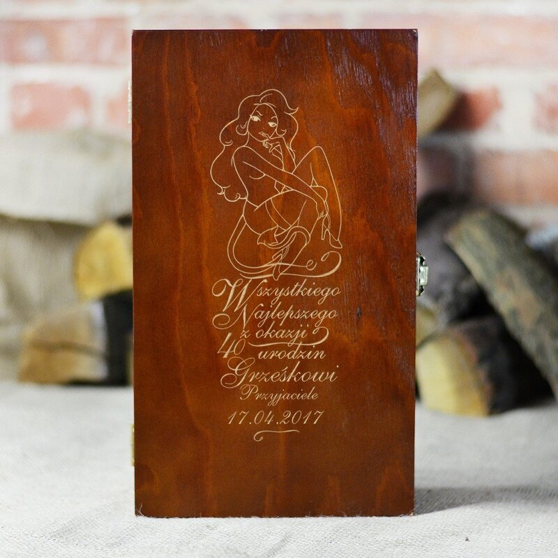 Zdjęcie produktu Urodzinowa skrzynka na alkohol
