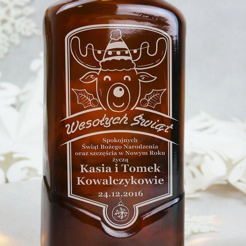 Zdjęcie produktu Wesoły Rudolf - grawerowana whisky Ballantine's na Gwiazdkę