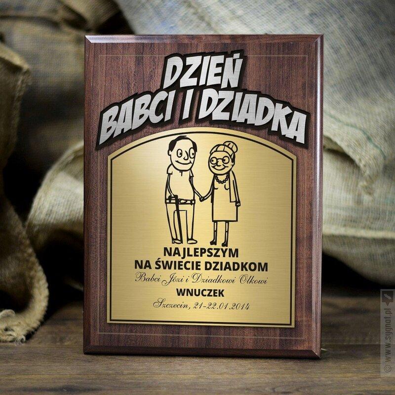 Zdjęcie produktu Dzień Babci i Dziadka - Laurka grawerowana