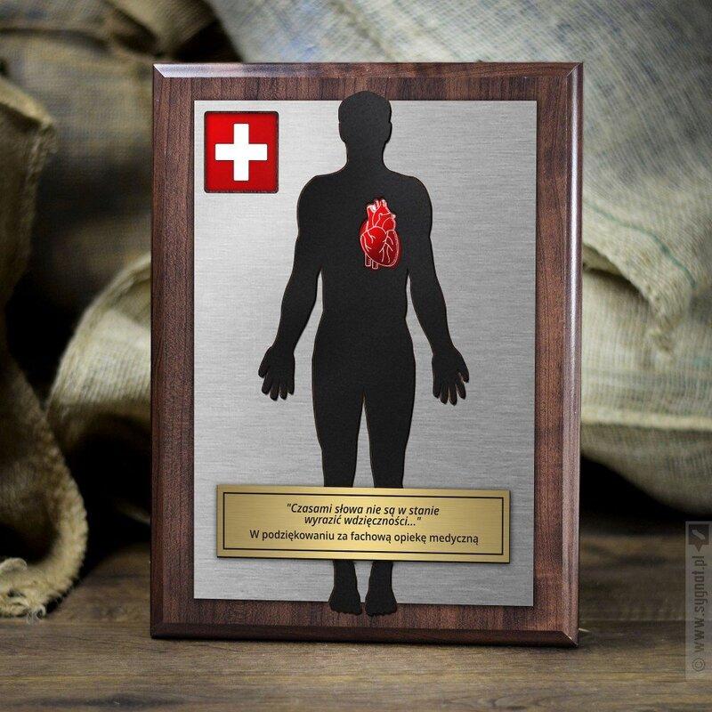 Zdjęcie produktu Podziękowanie dla lekarza - dyplom grawerowany