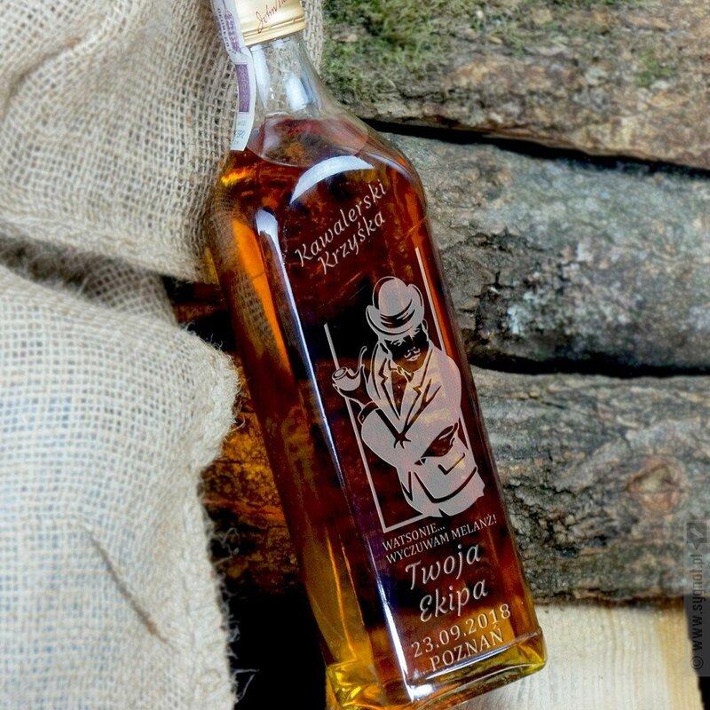 Zdjęcie produktu Zagadka Kawalera - grawerowana whisky Johnnie Walker na wieczór kawalerski