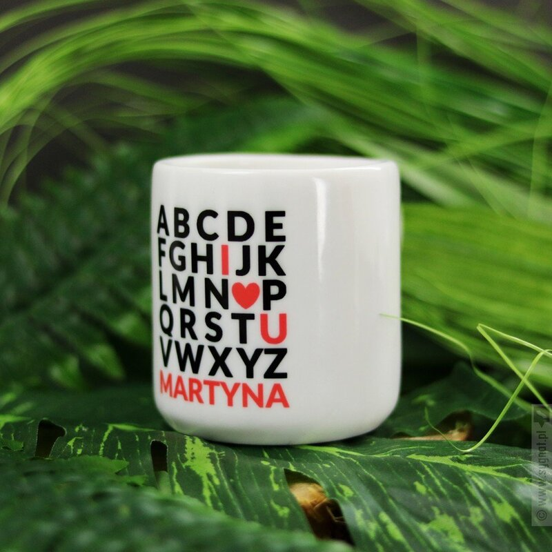 Zdjęcie produktu Alfabet Miłości - kubek z personalizacją