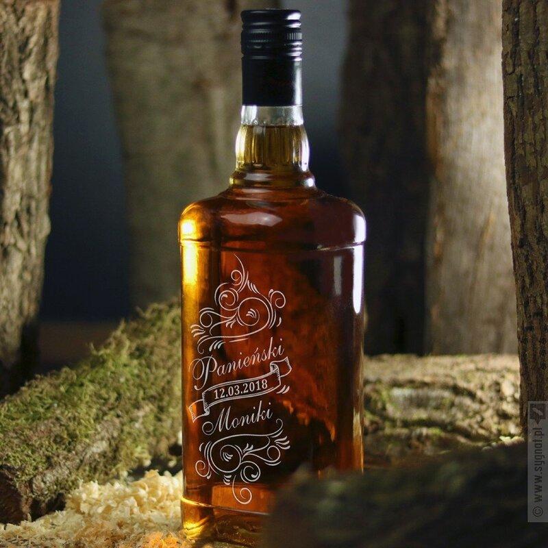 Zdjęcie produktu Grawerowany Jim Beam Bourbon Whiskey na wieczór panieński
