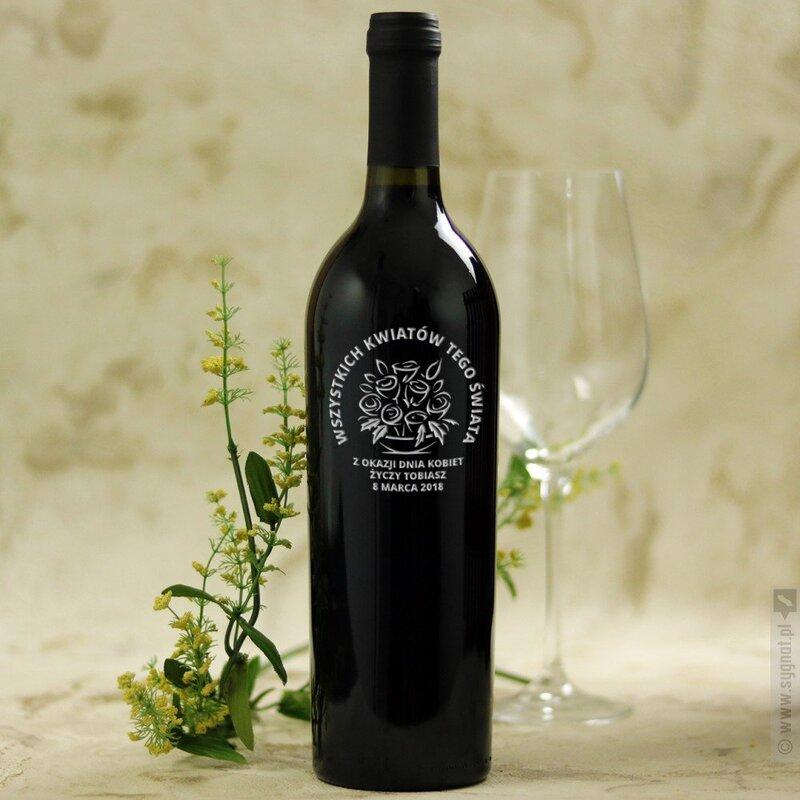 Zdjęcie produktu Bukiet Kwiatów - grawerowane wino z personalizacją