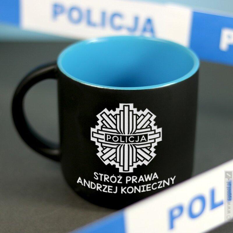 Zdjęcie produktu Kubek Policjanta - grawerowany kubek z personalizacją