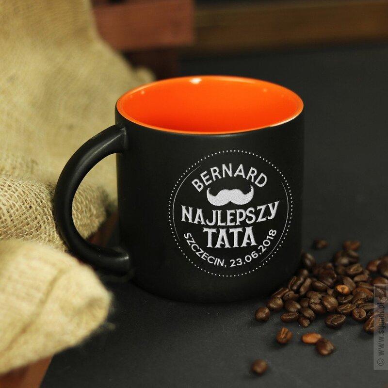 Zdjęcie produktu Najlepszy Tata - grawerowany kubek z personalizacjądla taty