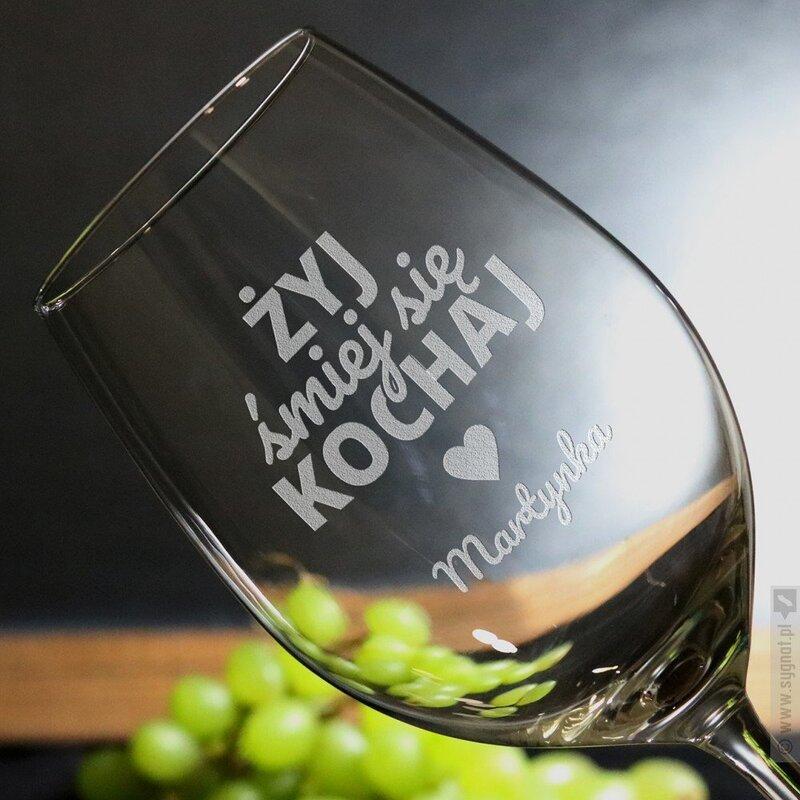 Zdjęcie produktu Motto - grawerowany kieliszek do wina z personalizacją