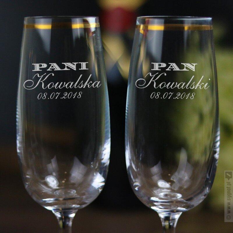 Zdjęcie produktu Państwo - zestaw kieliszków do wina z personalizacją, dla pary