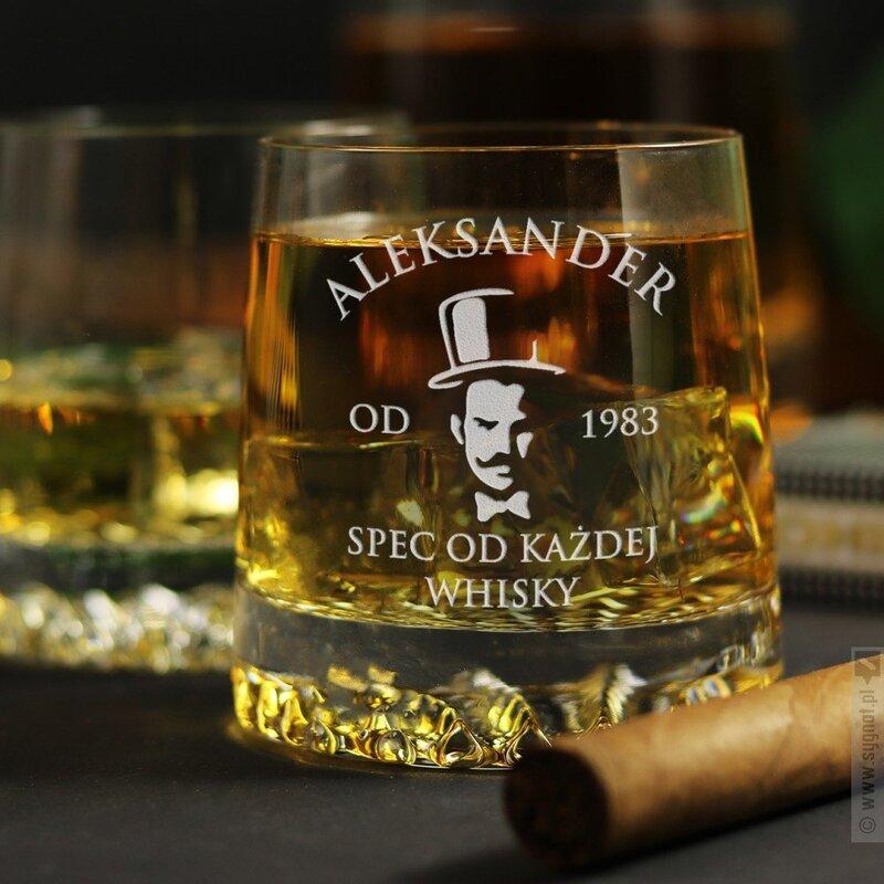 Zdjęcie produktu Spec Od Whisky - grawerowana szklanka do whisky z personalizacją na dowolną okazję