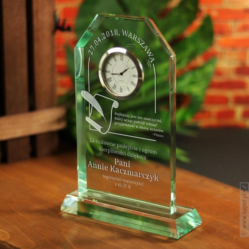 Zdjęcie produktu Great Teacher - grawerowane szklane trofeum w podziękowaniu dla nauczyciela