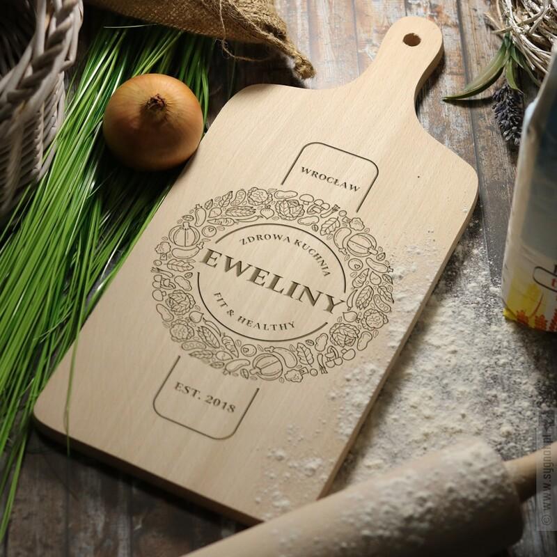 Zdjęcie produktu Zdrowa Kuchnia - grawerowana deska do krojenia