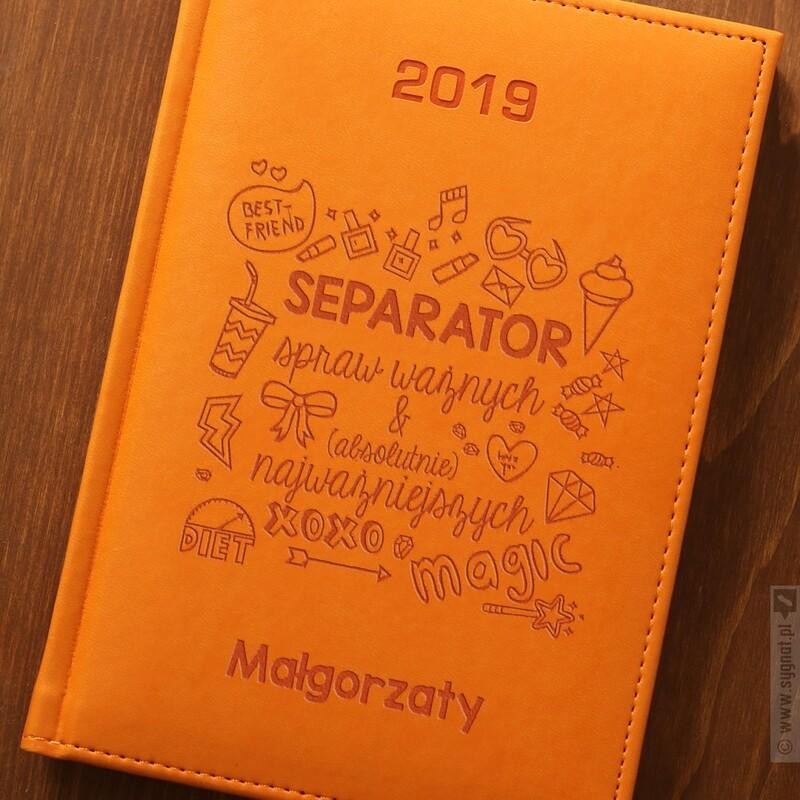 Zdjęcie produktu Separator Rzeczy Ważnych - kalendarz 2019 z personalizacją