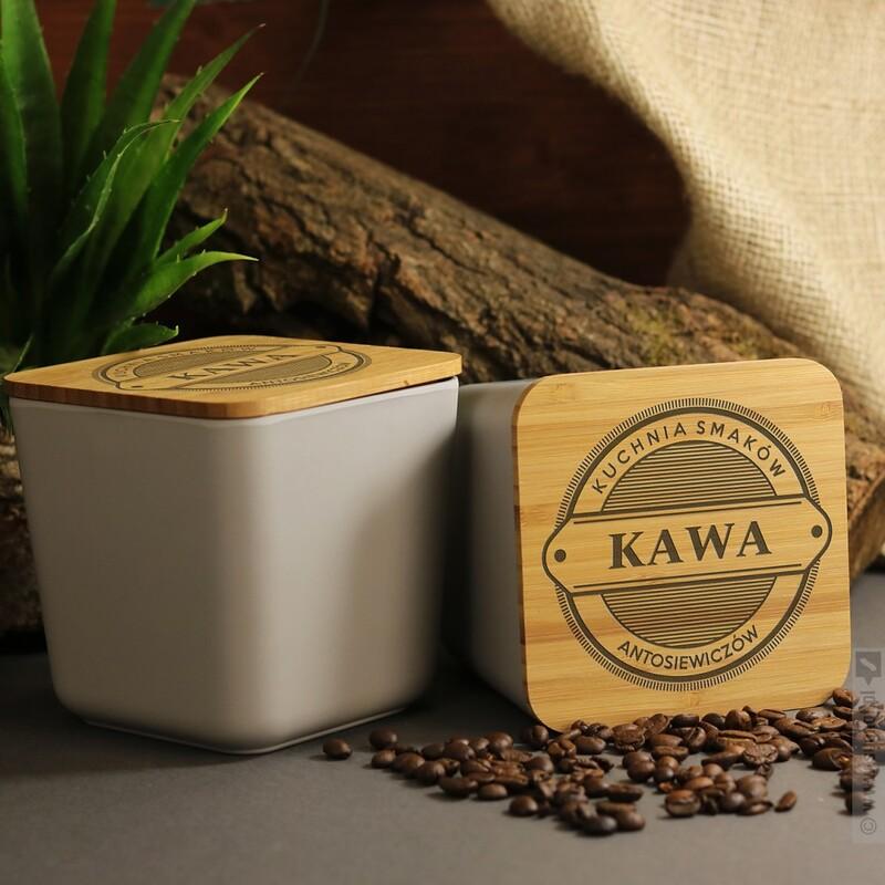 Zdjęcie produktu Grawerowany pojemnik z włókna bambusowego na żywność