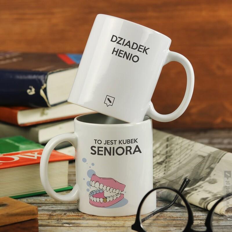 Zdjęcie produktu Kubek Seniora - kubek z personalizacją dla seniora