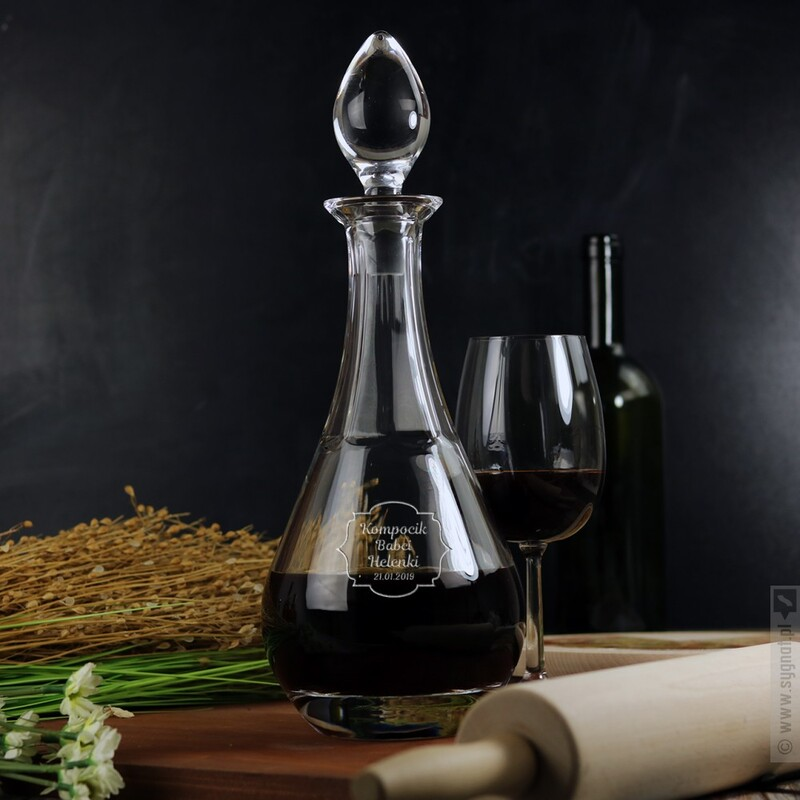 Zdjęcie produktu Kompocik - grawerowana karafka do wina z personalizacją dla Babci
