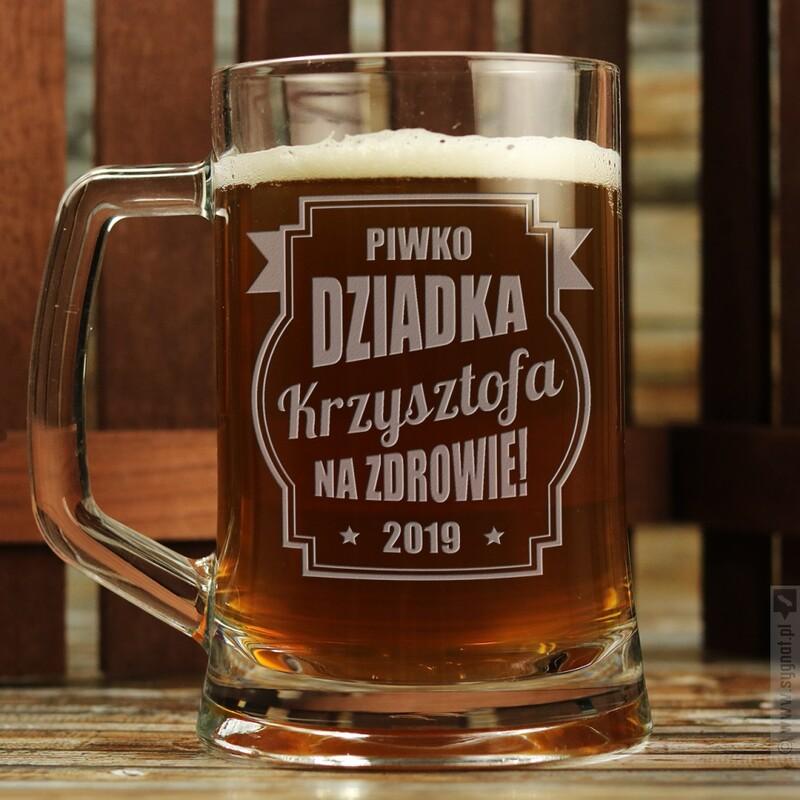 Zdjęcie produktu Piwko Dziadka - grawerowany kufel z personalizacją dla dziadka 500ml