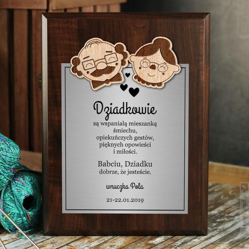 Zdjęcie produktu Dziadkowie - grawerowany dyplom z personalizacją dla dziadków