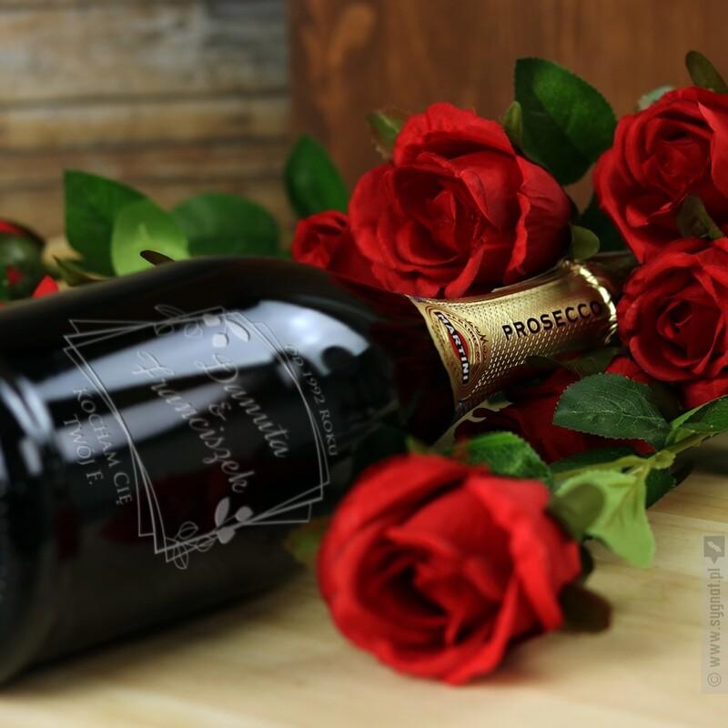 Zdjęcie produktu List Miłosny - grawerowane wino musujące Prosecco z personalizacją dla ukochanej osoby