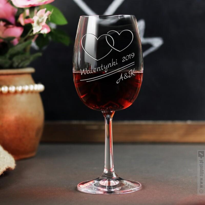 Zdjęcie produktu Nierozłączni - grawerowany kieliszek do wina dla ukochanej osoby