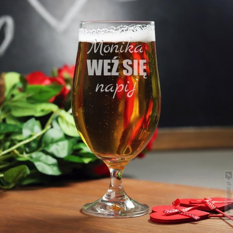 Zdjęcie produktu Weź Się - grawerowany pokal do piwa i koktajli z personalizacją na dowolną okazję