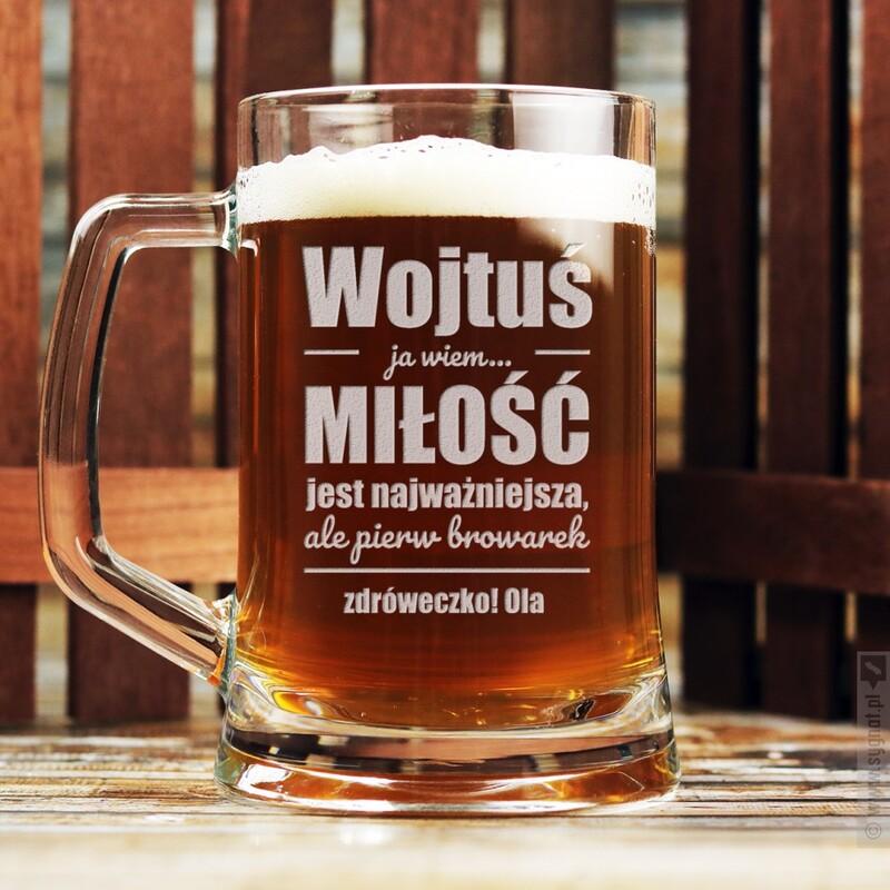 Zdjęcie produktu Browarek - grawerowany kufel do piwa z personalizacją dla niego 500ml