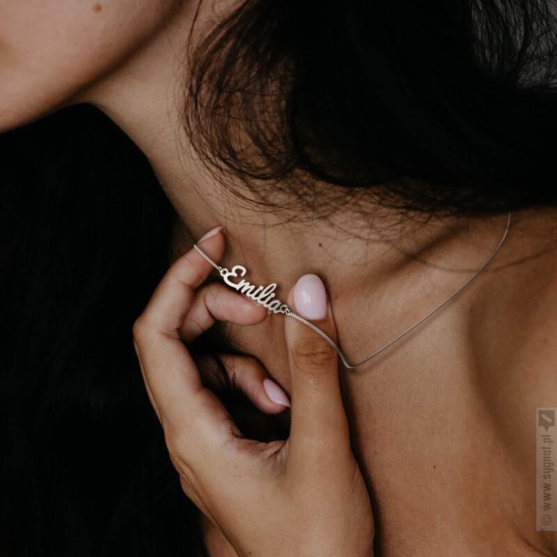 Zdjęcie produktu Twoje Imię - naszyjnik celebrytka ze srebra 925