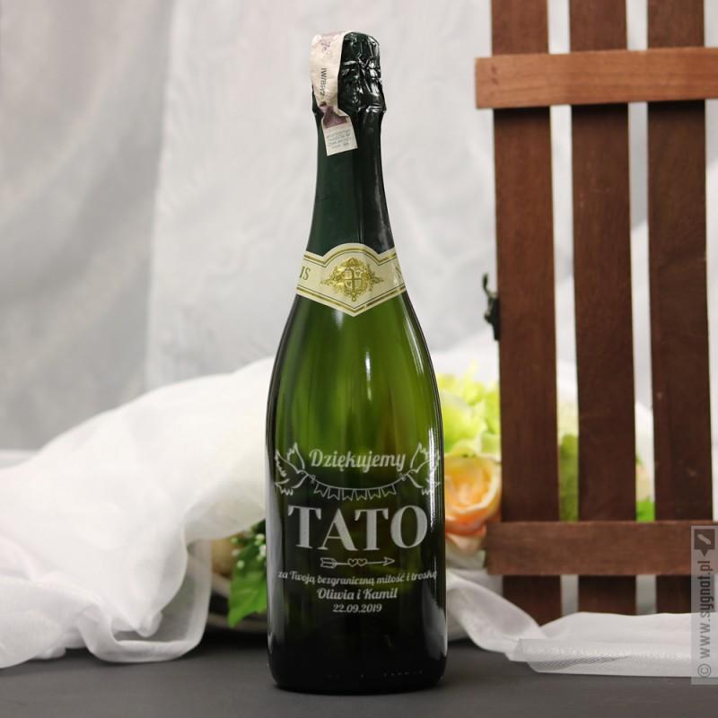 Zdjęcie produktu Dziękujemy Tato - grawerowane wino musujące w podziękowaniu dla taty