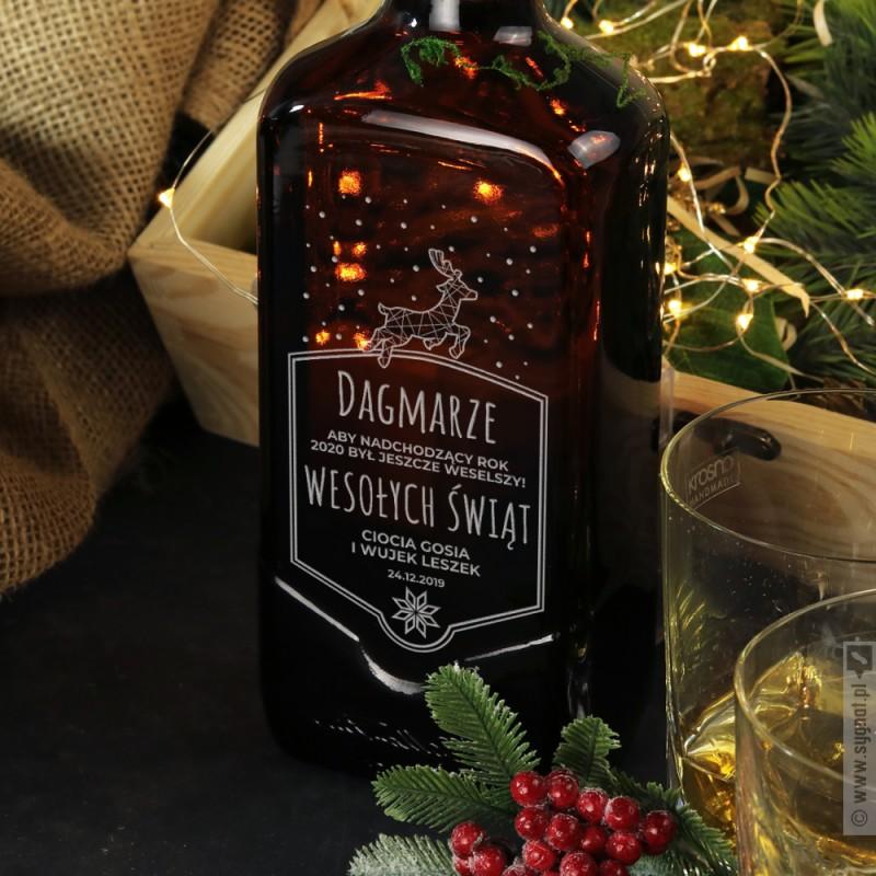 Zdjęcie produktu Wesoły Renifer - grawerowana whisky Ballantine's na Święta